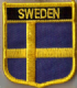 Sweden Embroidered Flag Patch, style 07.